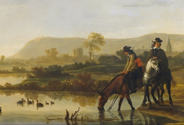 Aelbert_Cuyp_-_Rivierlandschap_met_ruiters_-_Google_Art_Project